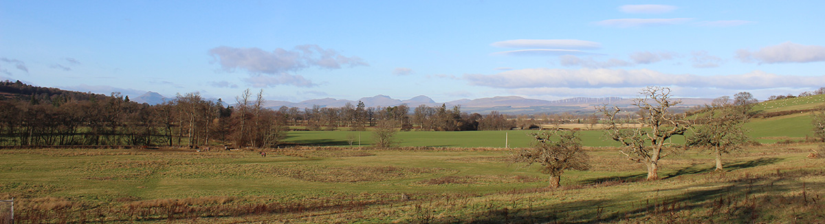 The development at Gartur Estate enjoys spectacular panoramic views of the nearby Trossachs mountain range.
