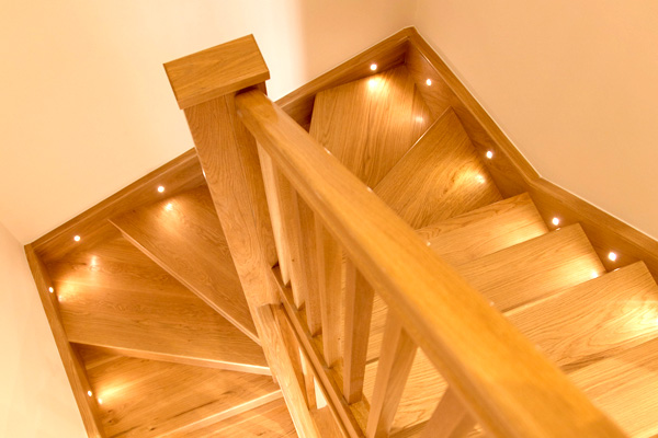 Hand built oak stair