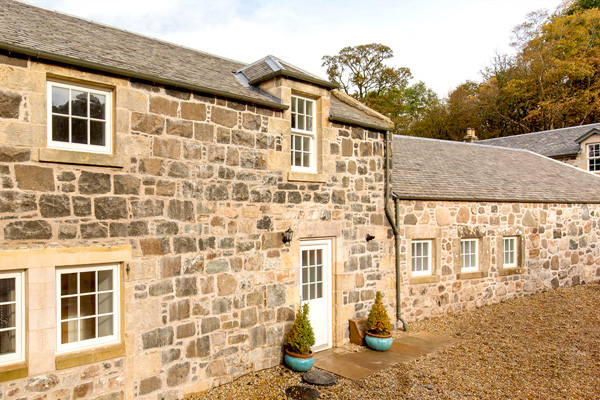 The stonework has been repaired and lime pointed