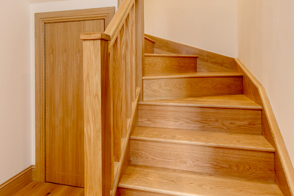 Hand crafted staircase